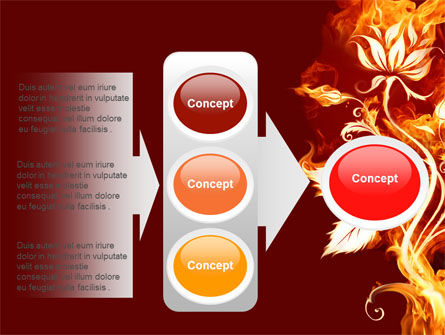 Flaming Flower PowerPoint Template Slide 11