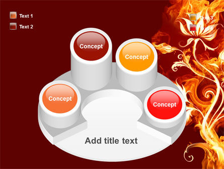 Flaming Flower PowerPoint Template Slide 12
