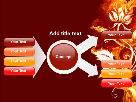 Flaming Flower PowerPoint Template Slide 14