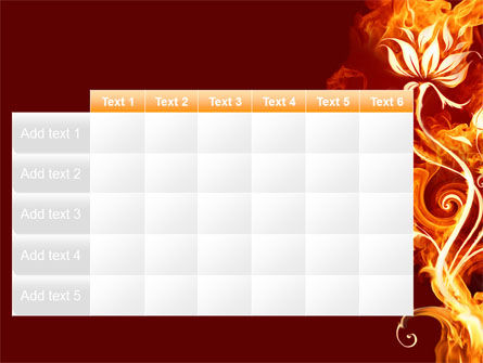 Flaming Flower PowerPoint Template Slide 15