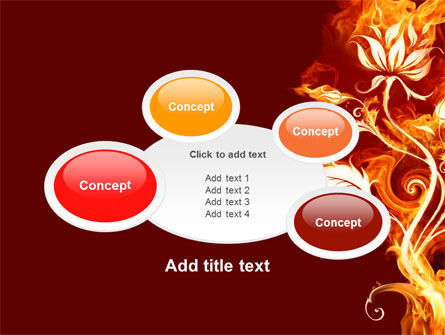 Flaming Flower PowerPoint Template Slide 16