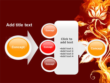 Flaming Flower PowerPoint Template Slide 17