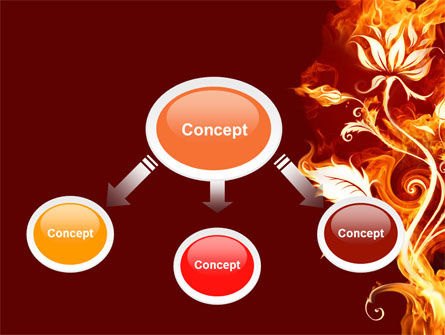 Flaming Flower PowerPoint Template, Slide 4, 04828, Abstract/Textures — PoweredTemplate.com