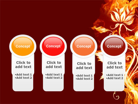 Flaming Flower PowerPoint Template Slide 5