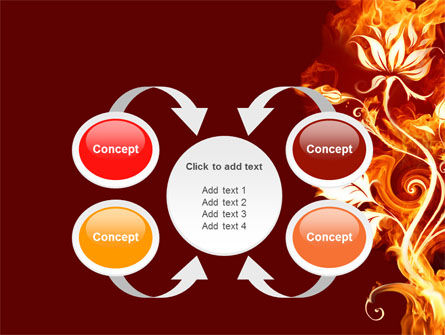 Flaming Flower PowerPoint Template Slide 6