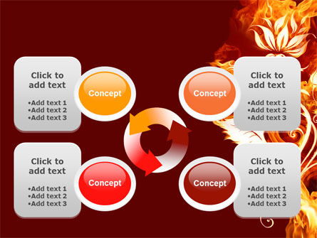 Flaming Flower PowerPoint Template Slide 9