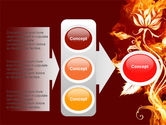Flaming Flower PowerPoint Template#11