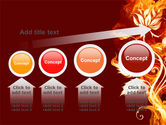 Flaming Flower PowerPoint Template#13