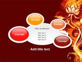 Flaming Flower PowerPoint Template#16