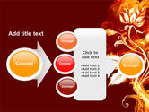 Flaming Flower PowerPoint Template#17