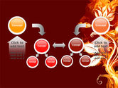 Flaming Flower PowerPoint Template#19