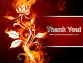 Flaming Flower PowerPoint Template#20