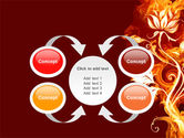 Flaming Flower PowerPoint Template#6