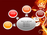 Flaming Flower PowerPoint Template#7