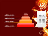 Flaming Flower PowerPoint Template#8