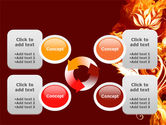 Flaming Flower PowerPoint Template#9