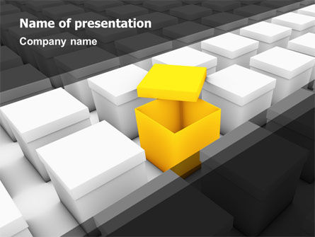 Open Box PowerPoint Template, 04830, Consulting — PoweredTemplate.com