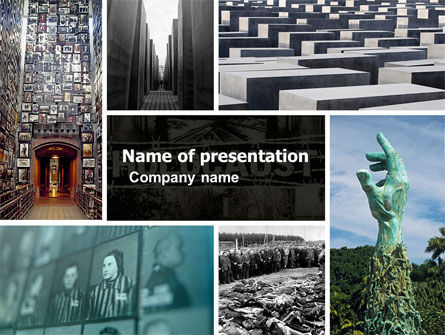 Holocaust PowerPoint Template, 04833, Religious/Spiritual — PoweredTemplate.com