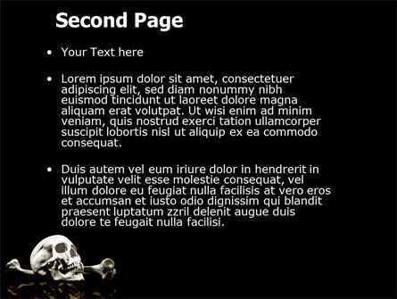 Skull And Bone PowerPoint Template Slide 2