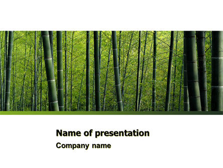 Bamboo PowerPoint Template, 04836, Nature & Environment — PoweredTemplate.com