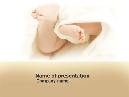 Education & Training: Little Feet PowerPoint Template #04837
