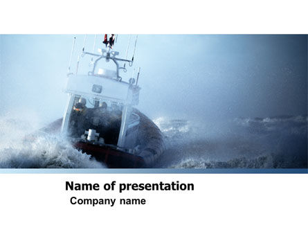 Nature & Environment: Sea Storm PowerPoint Template #04842