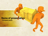Typical Construction Of Townhouses PowerPoint Template#1