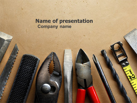 Utilities/Industrial: Tools Set PowerPoint Template #04844