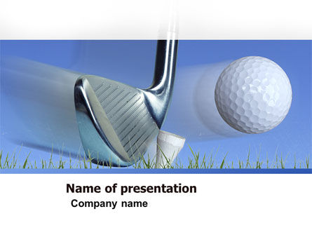Slight Bump In Golf Powerpoint Template Backgrounds 04845