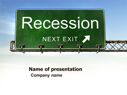 Recession PowerPoint Template, 04847, Financial/Accounting — PoweredTemplate.com