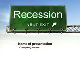 Financial/Accounting: Recession PowerPoint Template #04847