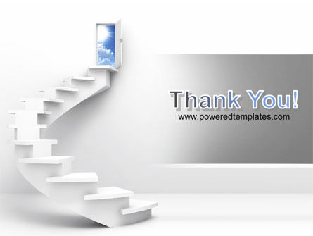 Stairway To Exit PowerPoint Template Slide 20