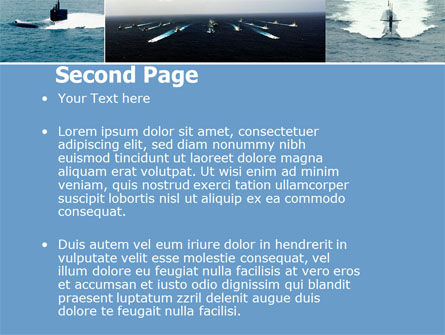 Submarine PowerPoint Template, Slide 2, 04850, Military — PoweredTemplate.com