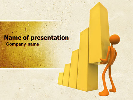 Improving Growth PowerPoint Template, 04851, Business Concepts — PoweredTemplate.com