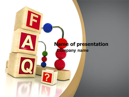Consulting: Faq PowerPoint Vorlage #04852