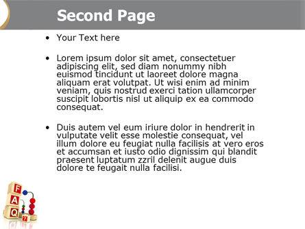 FAQ PowerPoint Template, Slide 2, 04852, Consulting — PoweredTemplate.com