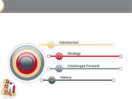 FAQ PowerPoint Template, Slide 3, 04852, Consulting — PoweredTemplate.com