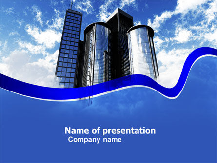City Center PowerPoint Template, 04854, Construction — PoweredTemplate.com