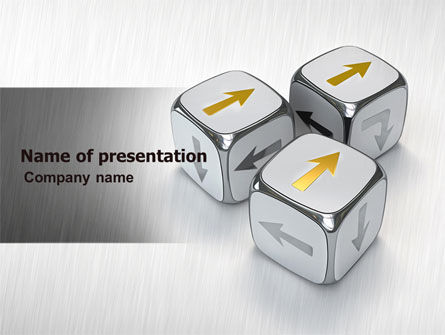 Direction Of Movement PowerPoint Template, 04856, Business Concepts — PoweredTemplate.com
