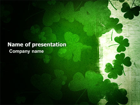 Holiday/Special Occasion: Clover Leaves PowerPoint Template #04859