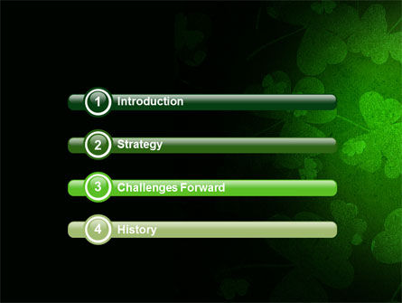 Clover Leaves PowerPoint Template, Slide 3, 04859, Holiday/Special Occasion — PoweredTemplate.com