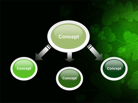 Clover Leaves PowerPoint Template, Slide 4, 04859, Holiday/Special Occasion — PoweredTemplate.com