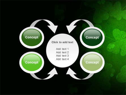 Clover Leaves PowerPoint Template Slide 6
