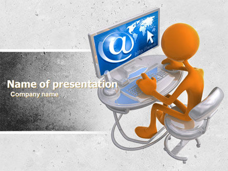Internet Addiction PowerPoint Template, 04860, Education & Training — PoweredTemplate.com