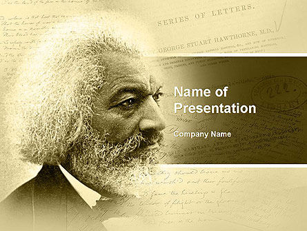 Frederick Douglass PowerPoint Template, 04861, People — PoweredTemplate.com