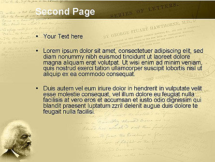 Frederick Douglass PowerPoint Template, Slide 2, 04861, People — PoweredTemplate.com