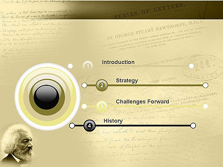 Frederick Douglass PowerPoint Template, Slide 3, 04861, People — PoweredTemplate.com