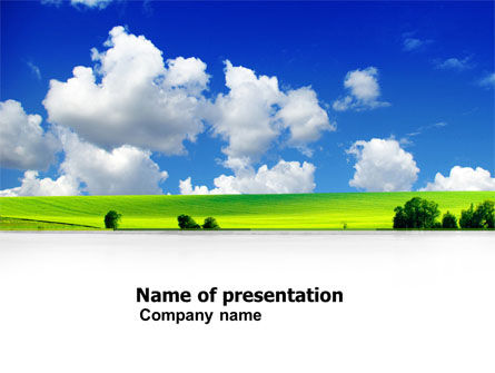 Sunny Landscape PowerPoint Template, 04863, Nature & Environment — PoweredTemplate.com