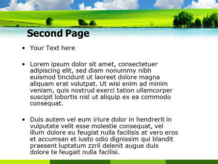 Sunny Landscape PowerPoint Template, Slide 2, 04863, Nature & Environment — PoweredTemplate.com