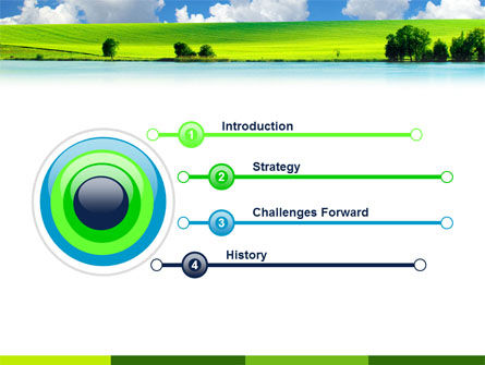 Sunny Landscape PowerPoint Template, Slide 3, 04863, Nature & Environment — PoweredTemplate.com